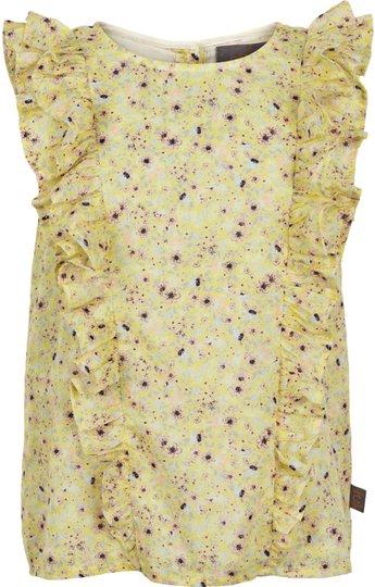 Creamie Yellow Flower Bluse, Popcorn 116