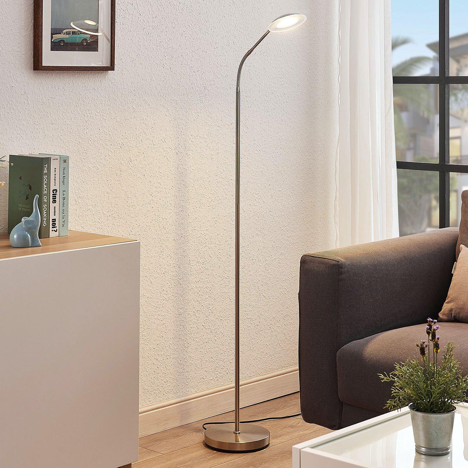 LED-leselampe Meghan, justerbar, nikkel