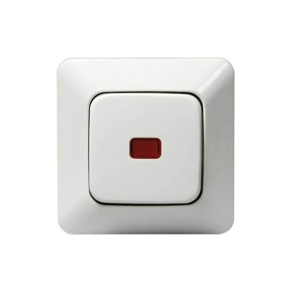 ABB 1066UK2 Strømstiller innfelt, IP20, alpinhvit, med belysning Trapp