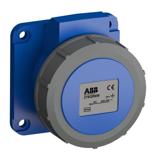 ABB 2CMA102298R1000 Paneluttak hurtigtilkoblet, vibrasjonsbestandig Rett, 3-polet, 16 A