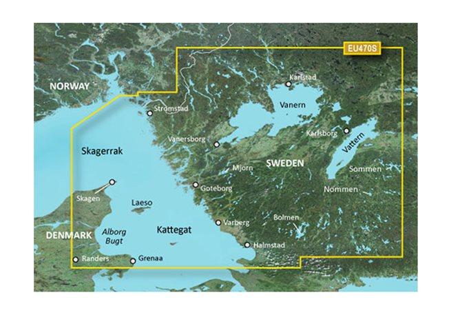 Garmin Strömstad till Halmstad Garmin VEU470S - BlueChart g3 mSD/SD