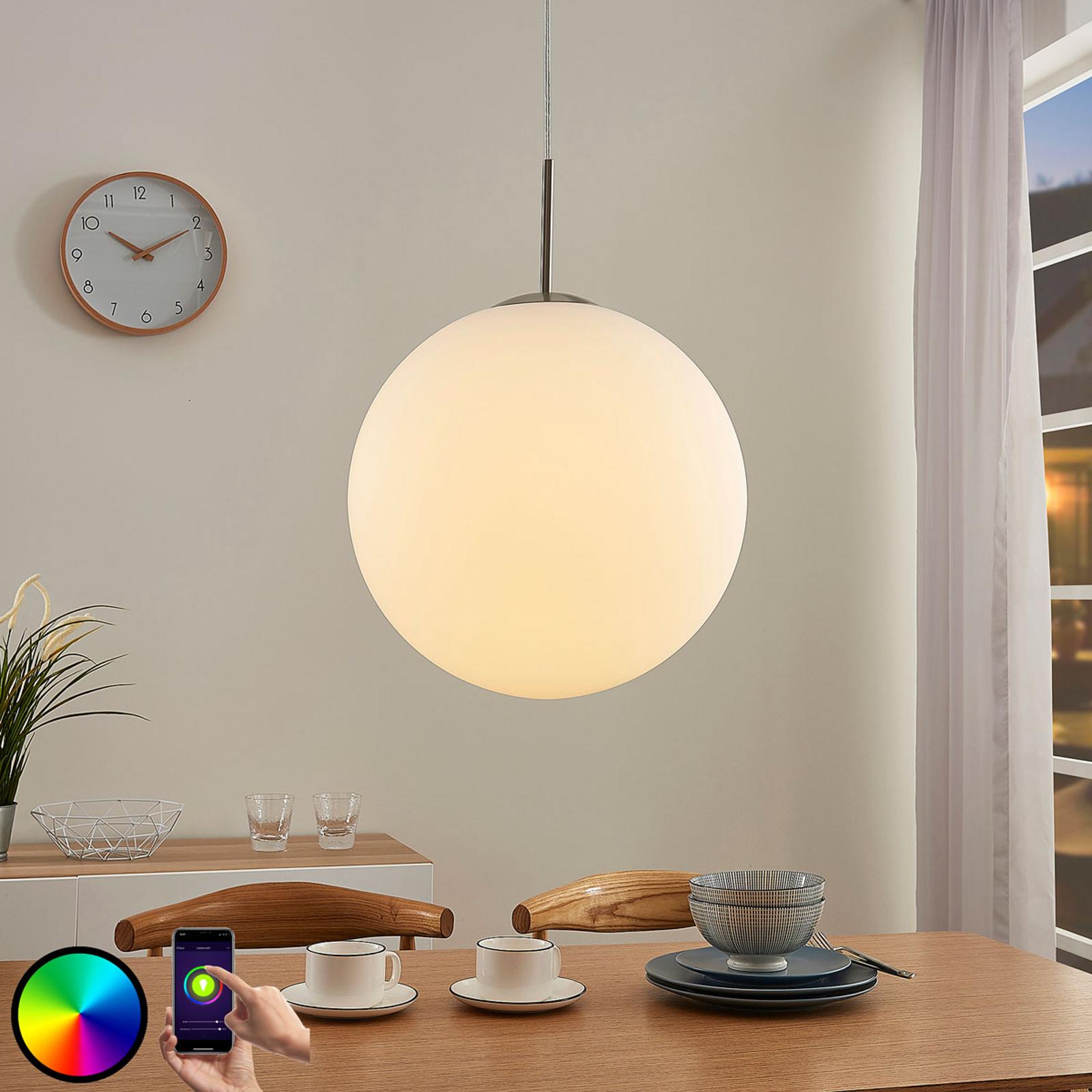 Lindby Smart LED-RGB-riippuvalaisin Rhona, app