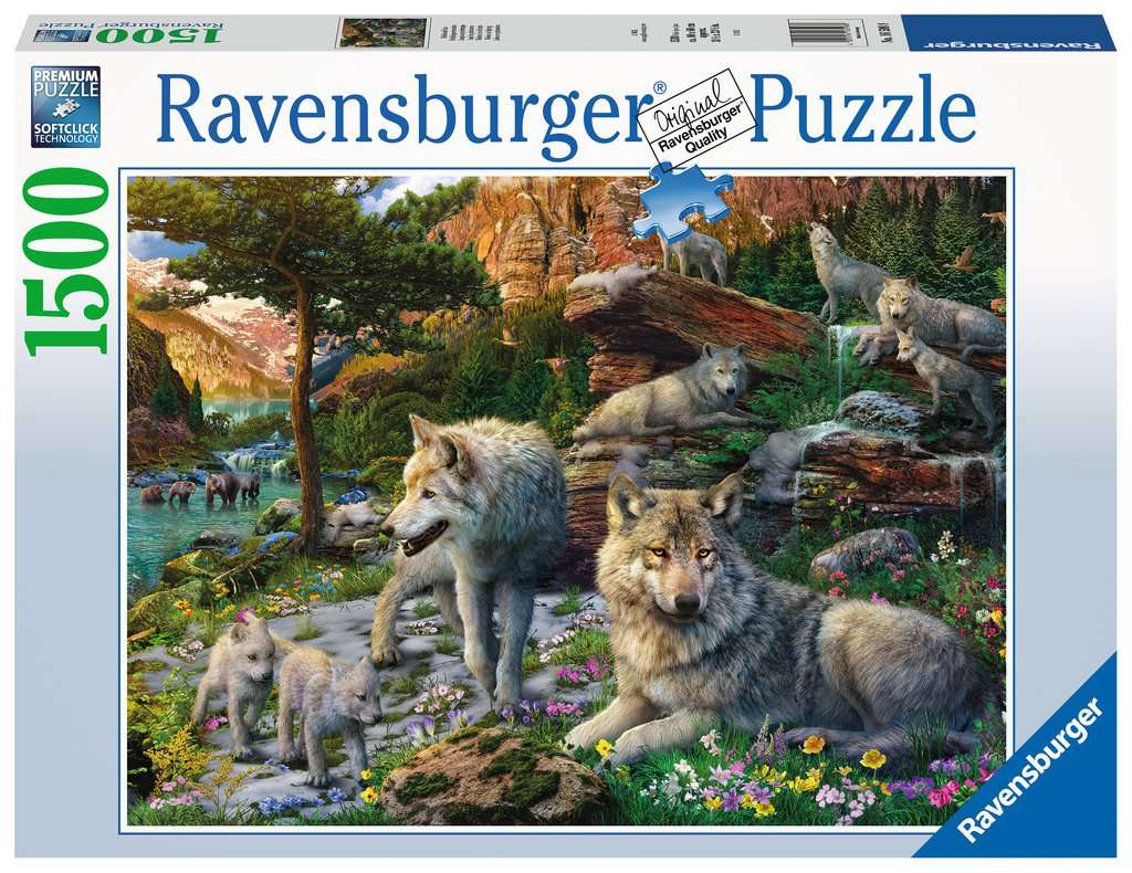 Ravensburger - Puzzle 1500 - Wolves In Spring (10216598)