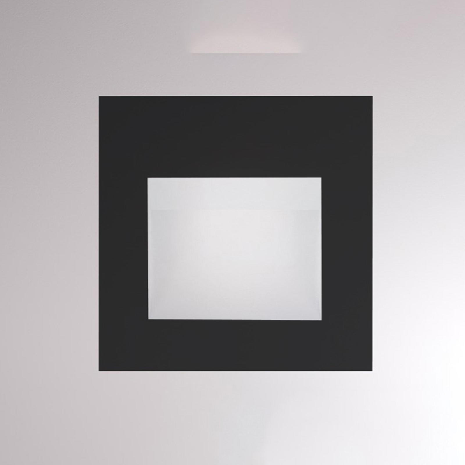 LED-seinäuppovalaisin Pan, musta