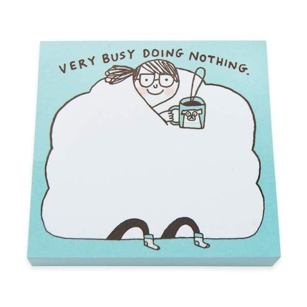 Busy Doing Nothing Sticky Notes