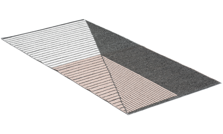 Stripe rosa - plastteppe