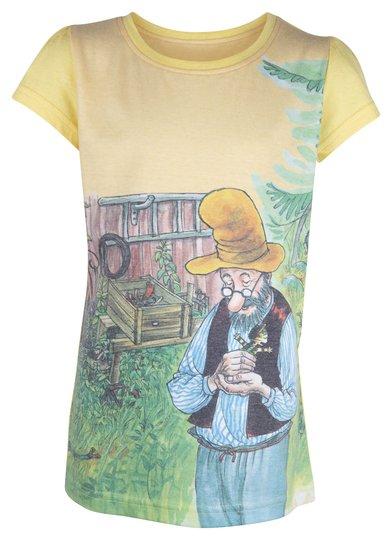 Gubben og Katten T-Shirt, Yellow, 92