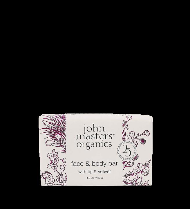 John Masters Organics - Face & Body Bar w. Fig & Vetiver 128 g