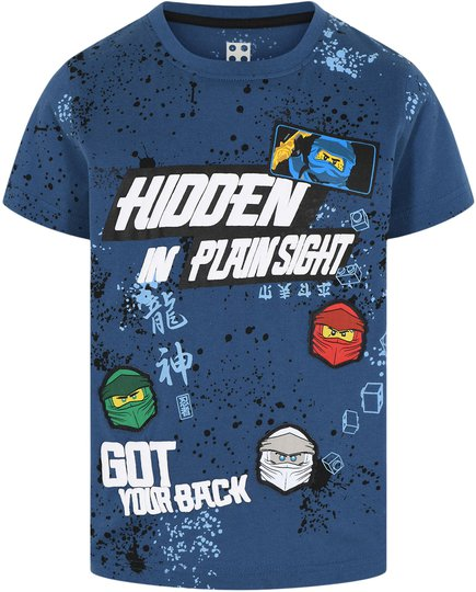 LEGO Collection T-shirt, Dark Dust Blue, 110