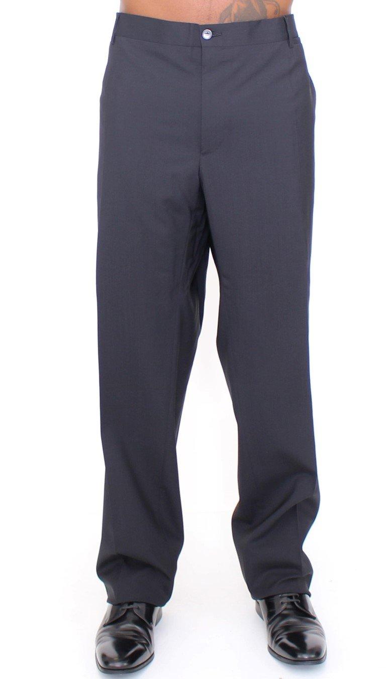 Dolce & Gabbana Men's Wool Stretch Pleated Trouser Black HAN10147 - IT58   3XL