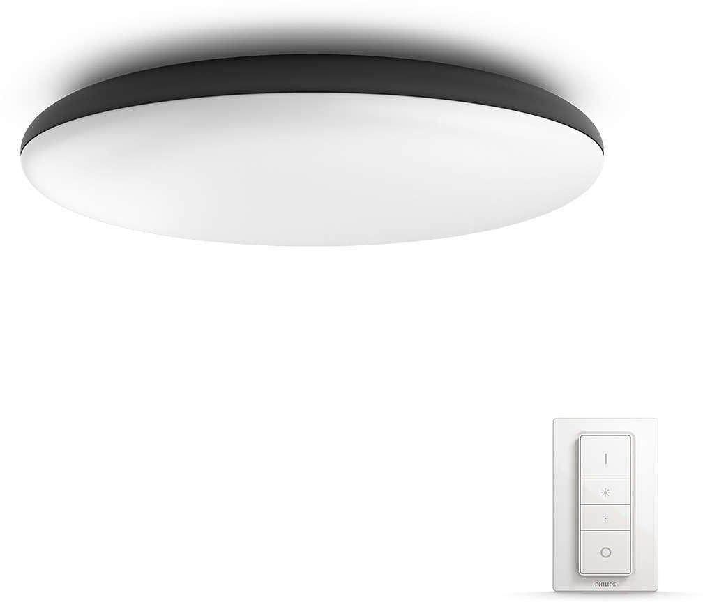 Philips Hue - Cher Hue Ceiling Lamp Black - White Ambiance Bluetooth Dimmer Included