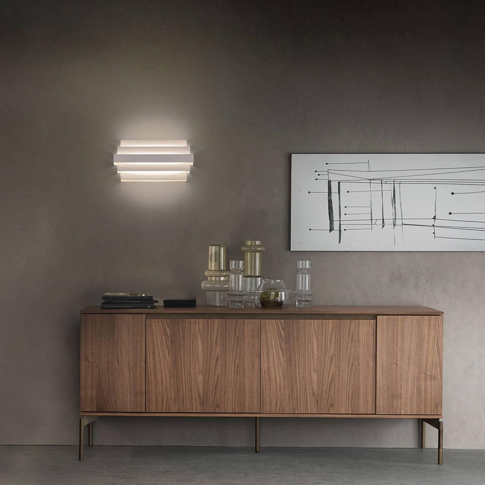 LED-vegglampe Oris, hvit