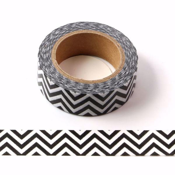 Monochrome Chevron Washi Tape