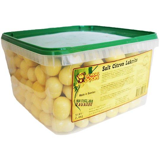 Hel Låda Godis Citronlakrits 2,4kg - 62% rabatt