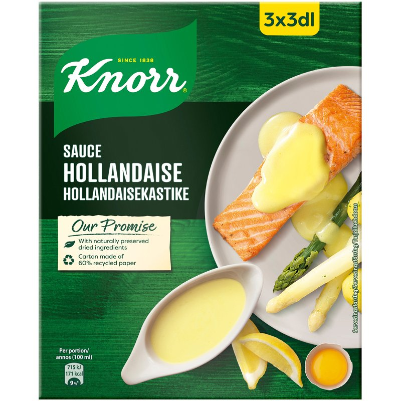 Hollandaisekastike 3x3dl - 23% alennus