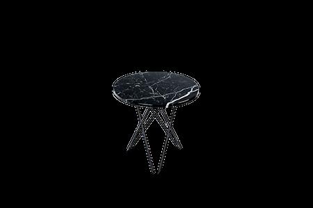 Tall Mini O Table Svart Marmor med Svart Ramme Ø50
