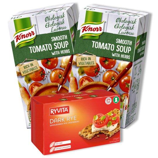 Tomaattikeitto & Näkkileipä - 77% alennus