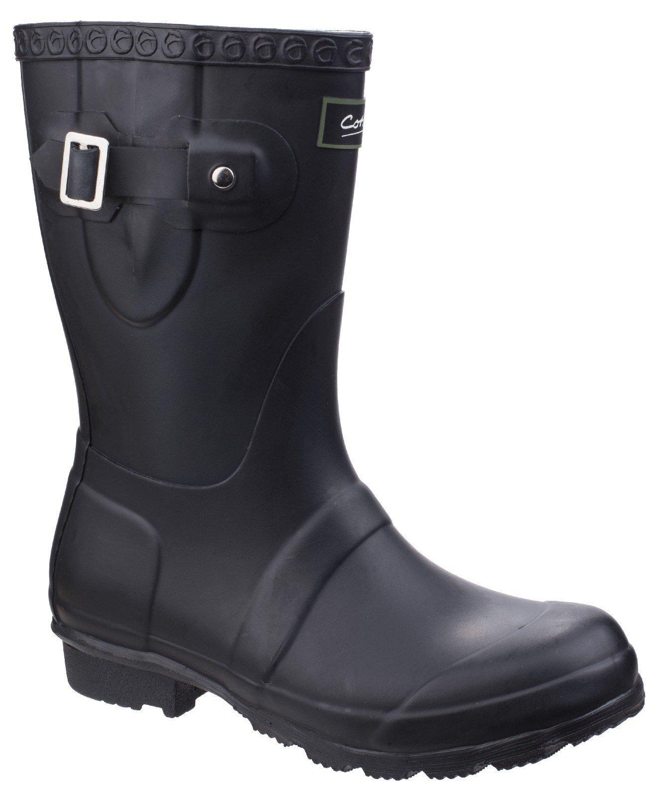 Cotswold Women's Windsor Short Wellington Boot Various Colours 25537 - Black 3