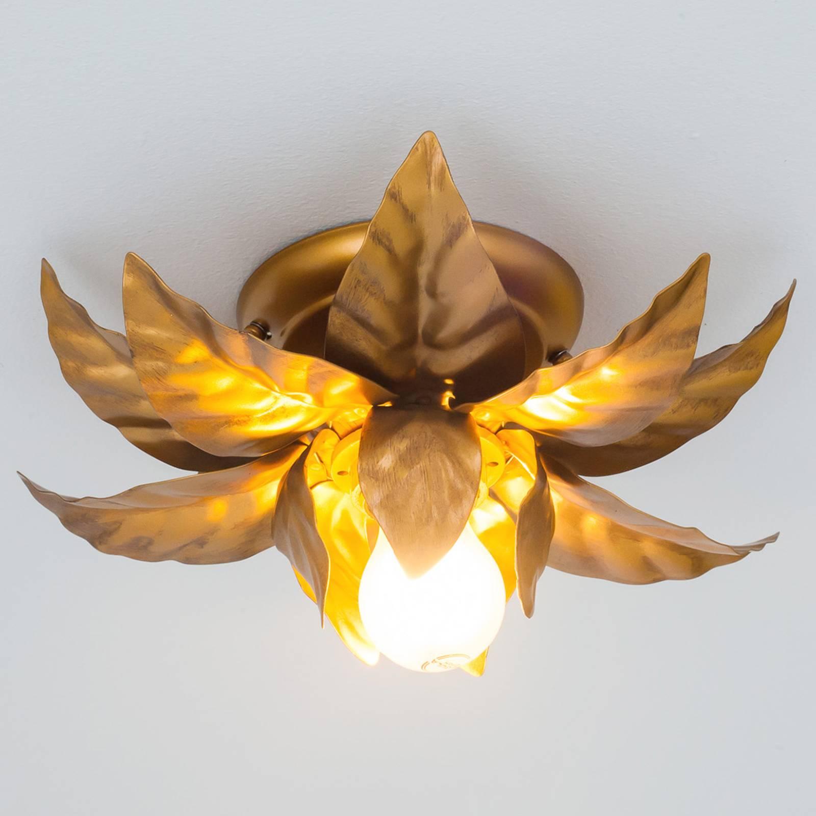 ANTIK-kattovalaisin kultaisilla lehdyköillä 26 cm