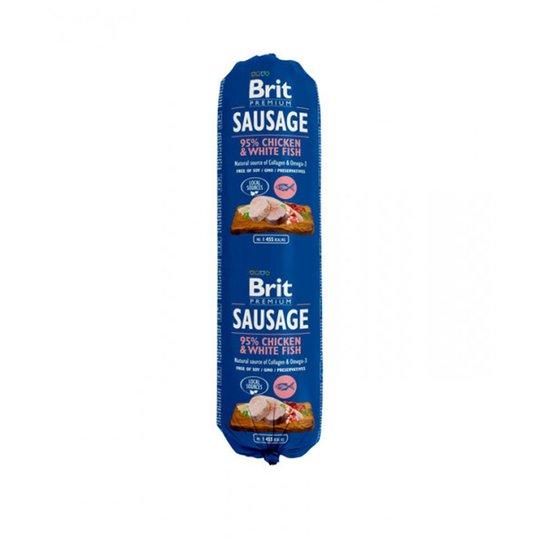 Brit Premium Köttkorvar Kyckling & Vit Fisk