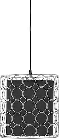 Ring Taklampe 30 cm Krom/Svart