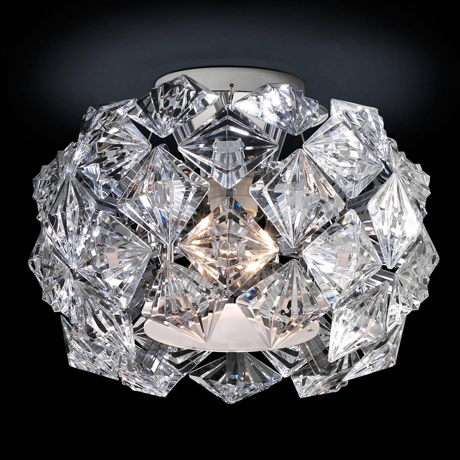 Säihkyvä kattovalaisin Prisma 35 cm