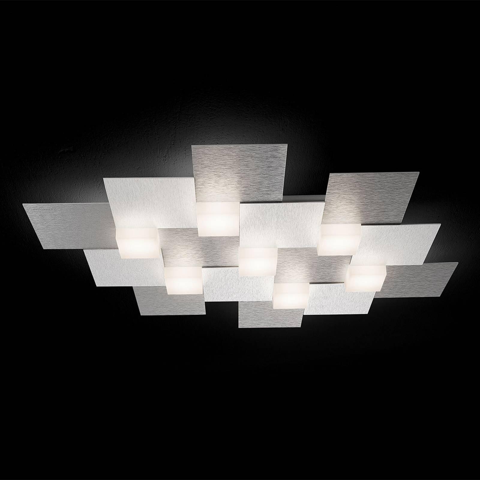 GROSSMANN Creo LED-taklampe 7 lys aluminium