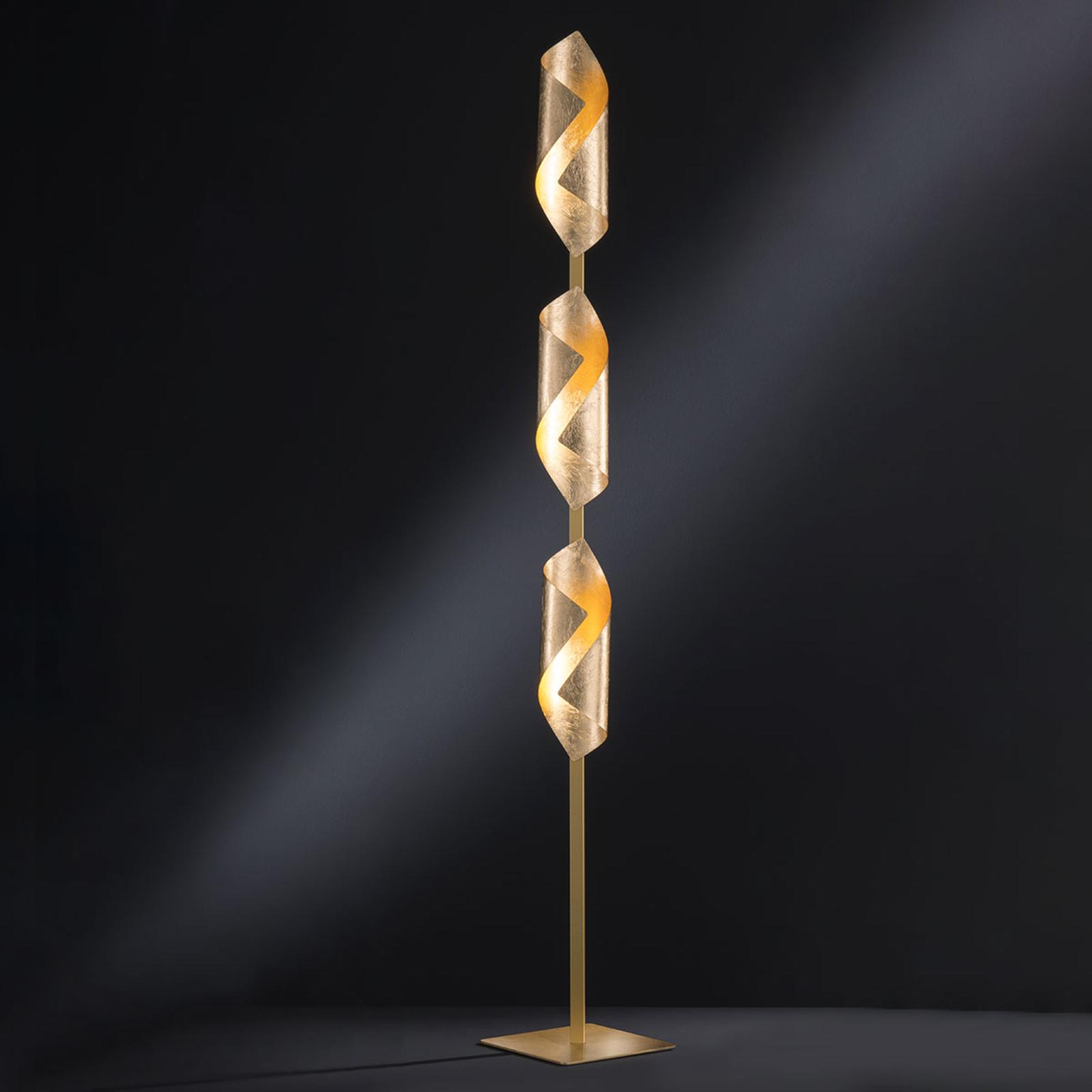 LED-seinävalaisin Safira, kiiltävä kulta