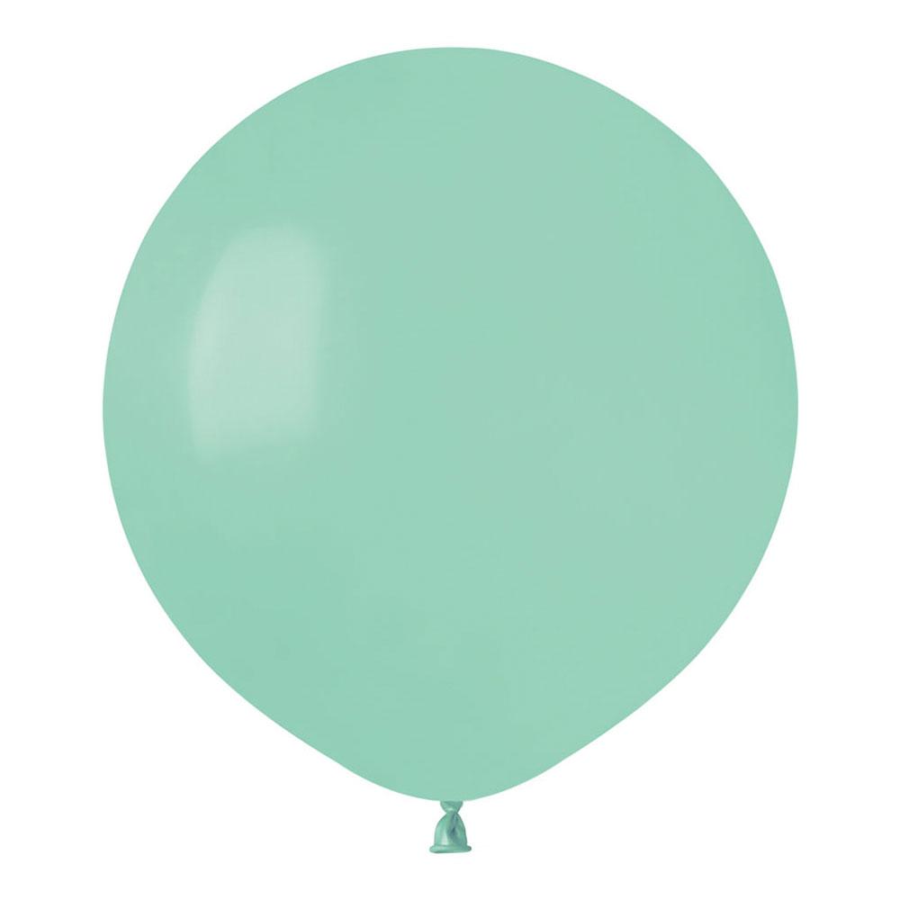 Ballonger Mintgrön Runda Stora - 10-pack