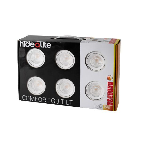 Hide-a-Lite Comfort G3 Tilt Downlight hvit, 6-pack 2000-2700 K