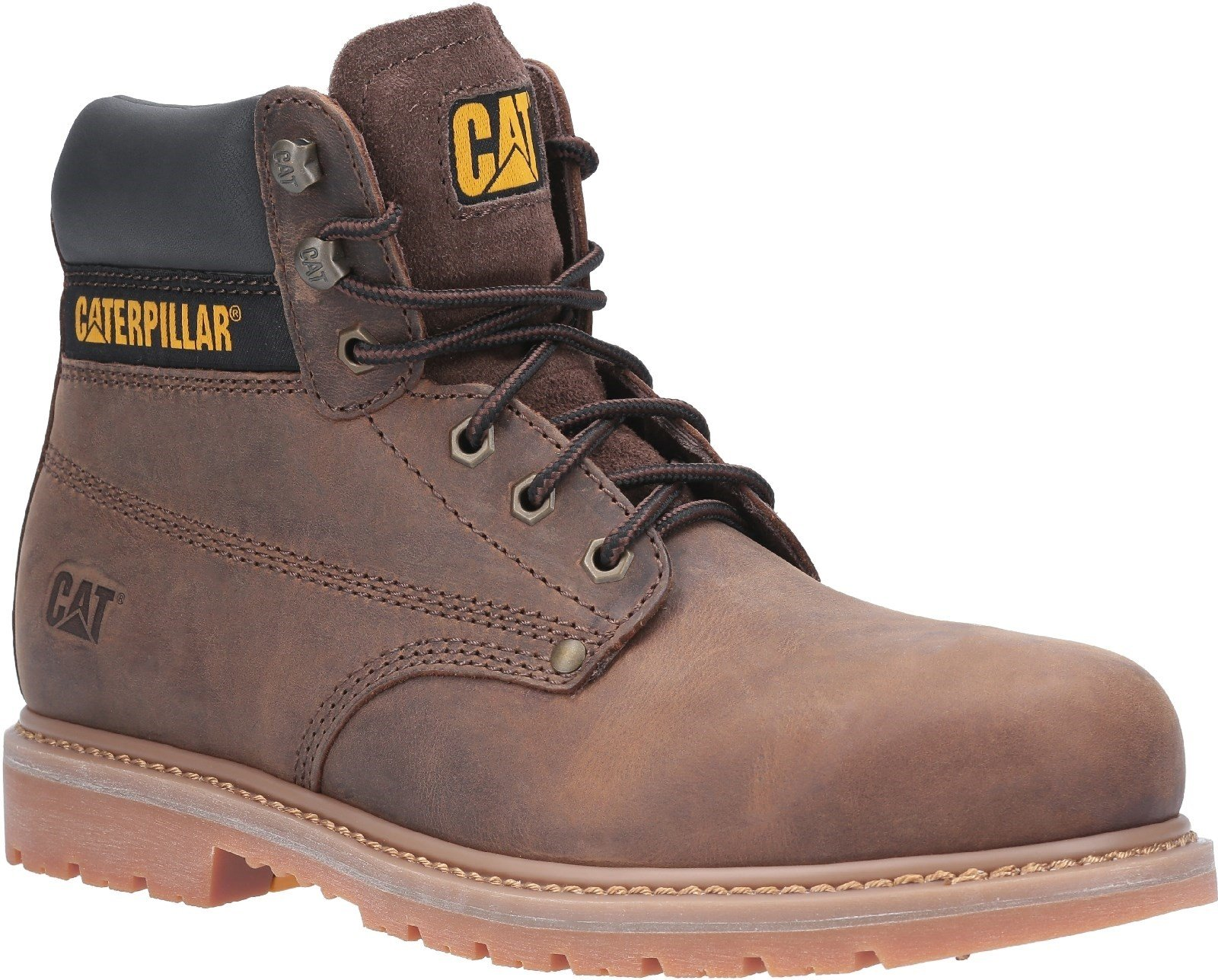 Caterpillar Men's Powerplant GYW Safety Boot Various Colours 30178 - Brown 6