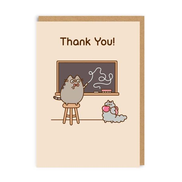 Pusheen Thank You Teacher Greeting Card