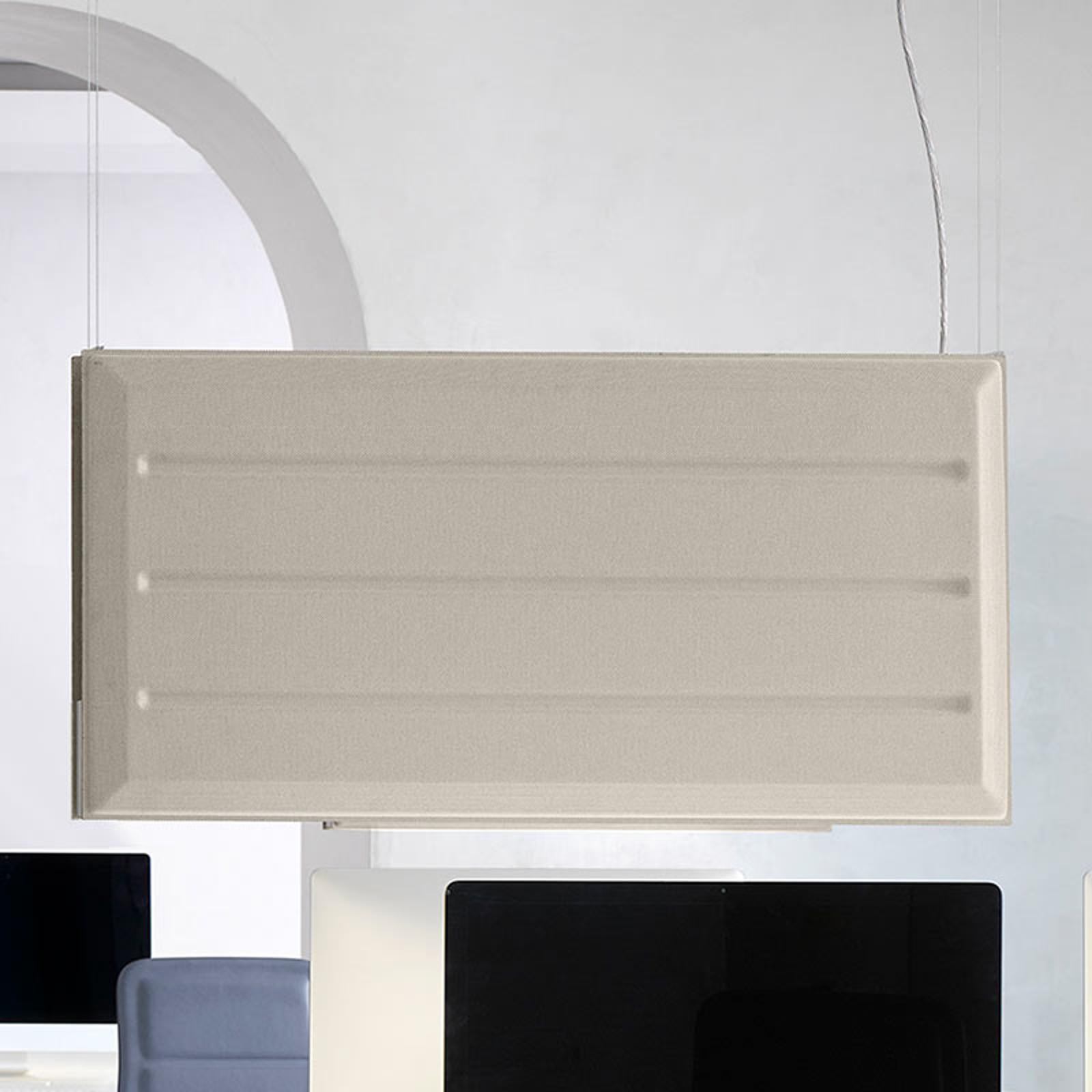 Luceplan Diade LED-riippuvalo pysty beige 120 cm