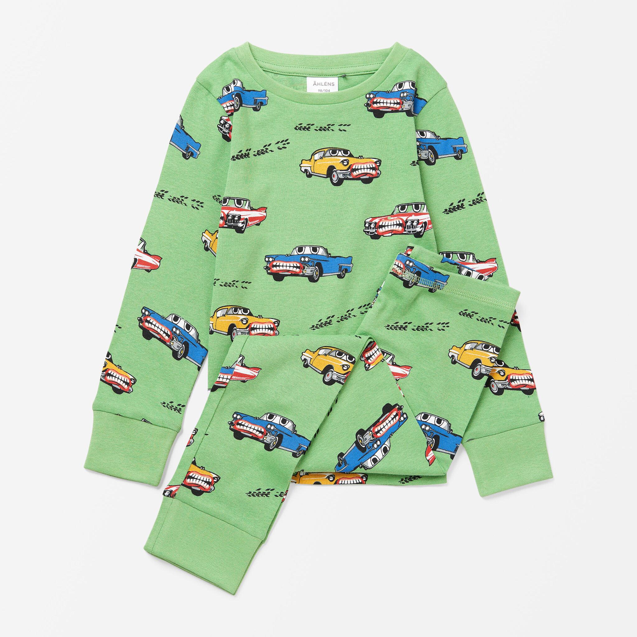 Mönstrad pyjamas, 2-delad