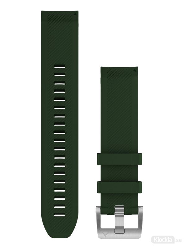 Garmin QuickFit 22mm Klockarmband, tallgrönt silikonarmband 010-13008-01