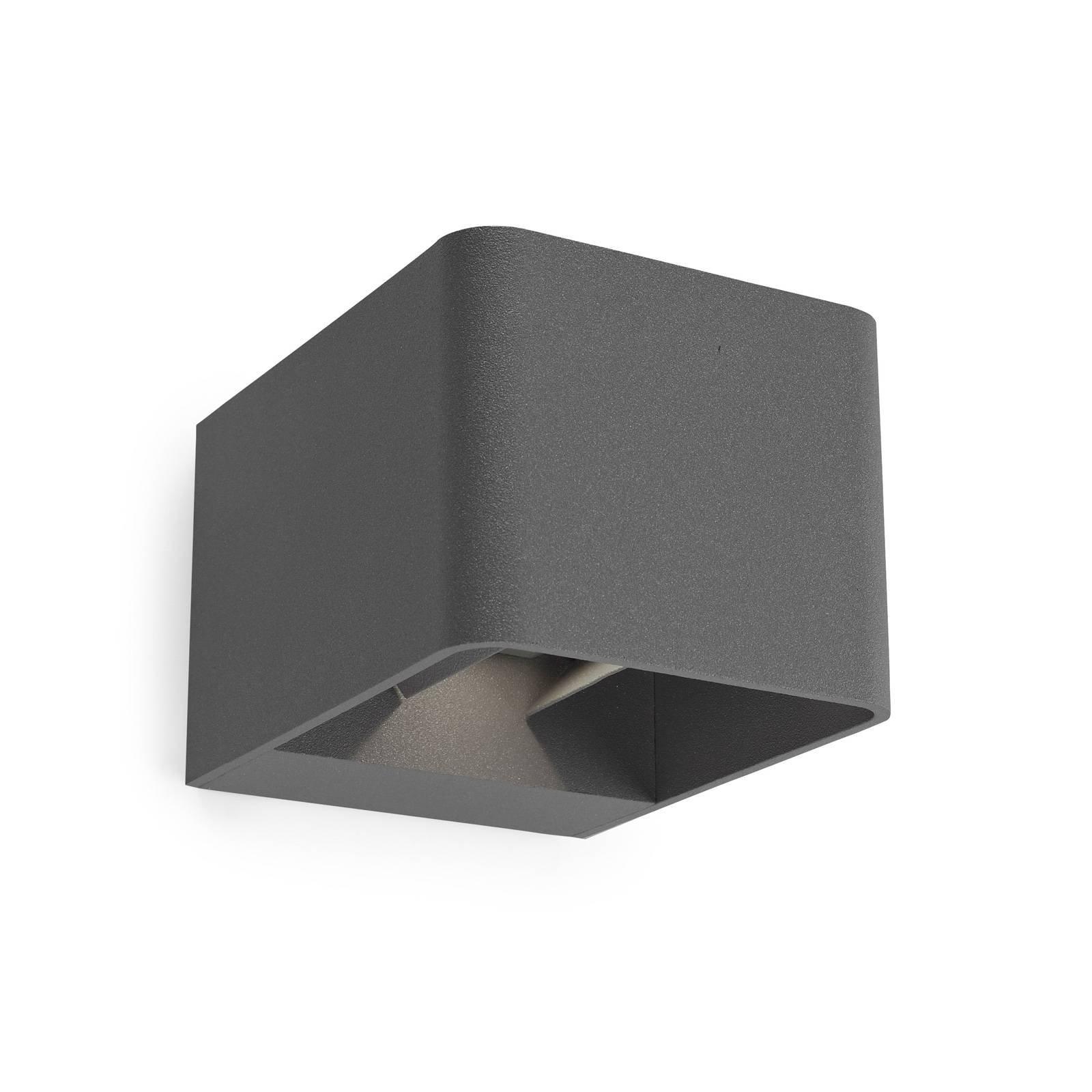 LEDS-C4 Wilson LED-vegglampe, 11cm, antrasitt