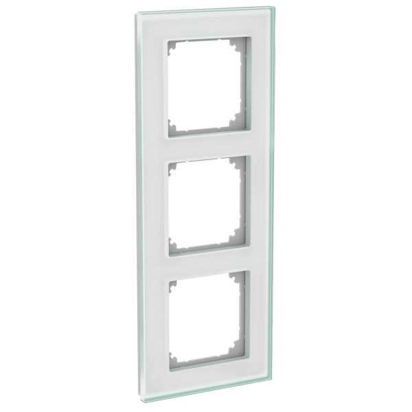 Schneider Electric WDE004037 Kombinasjonsramme glass, solid, hvit 3 rom