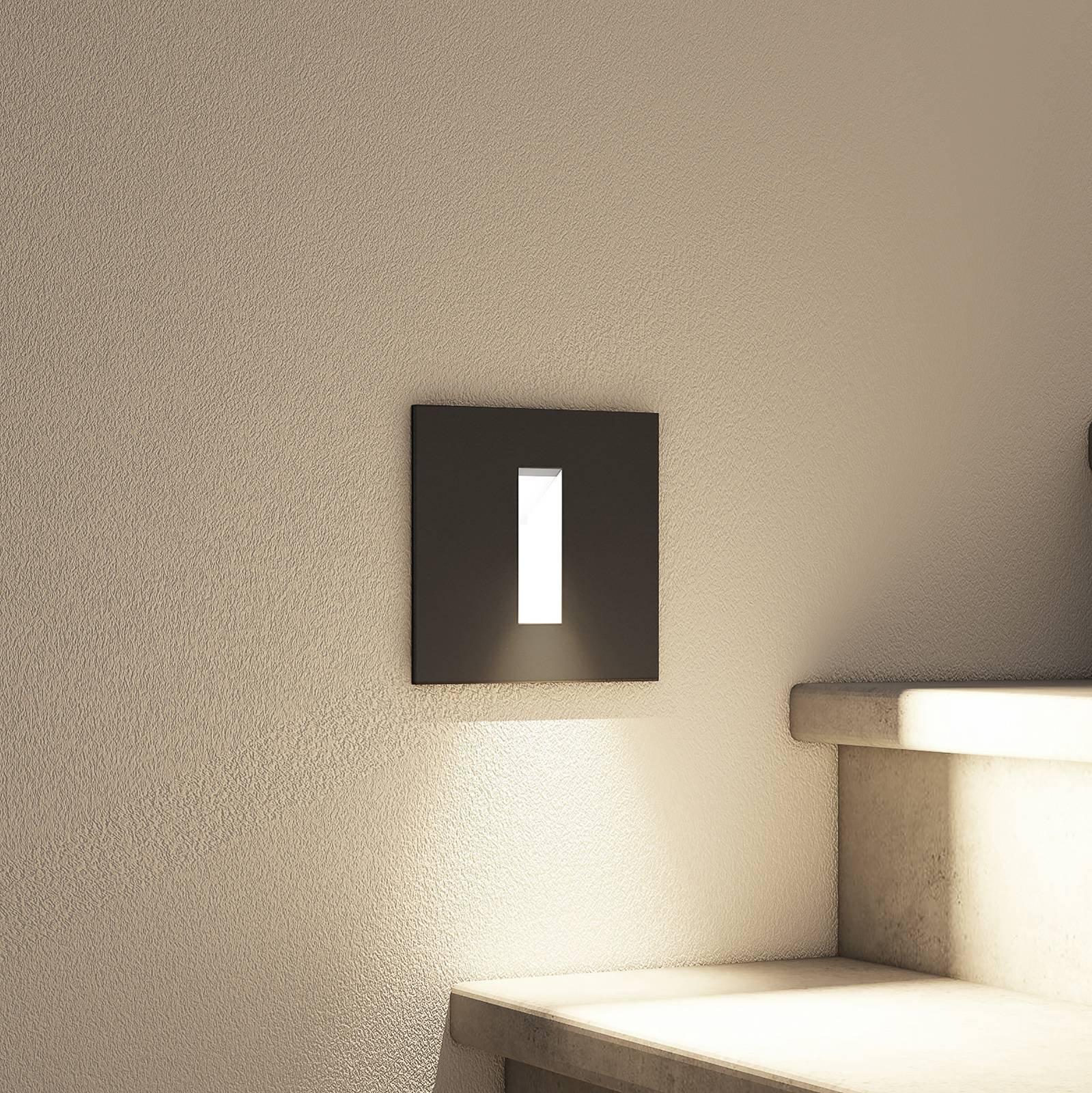 Arcchio Lanti LED-innfellingslampe, svart