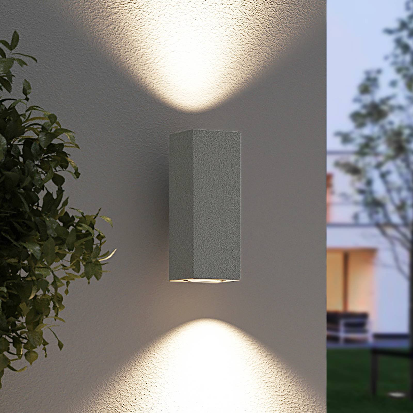 Arcchio Leiylen utendørs LED-vegglampe, kantet