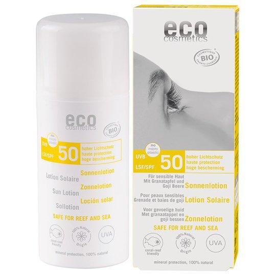 Eco Cosmetics Ekologisk Sollotion högt skydd SPF 50, 100 ml