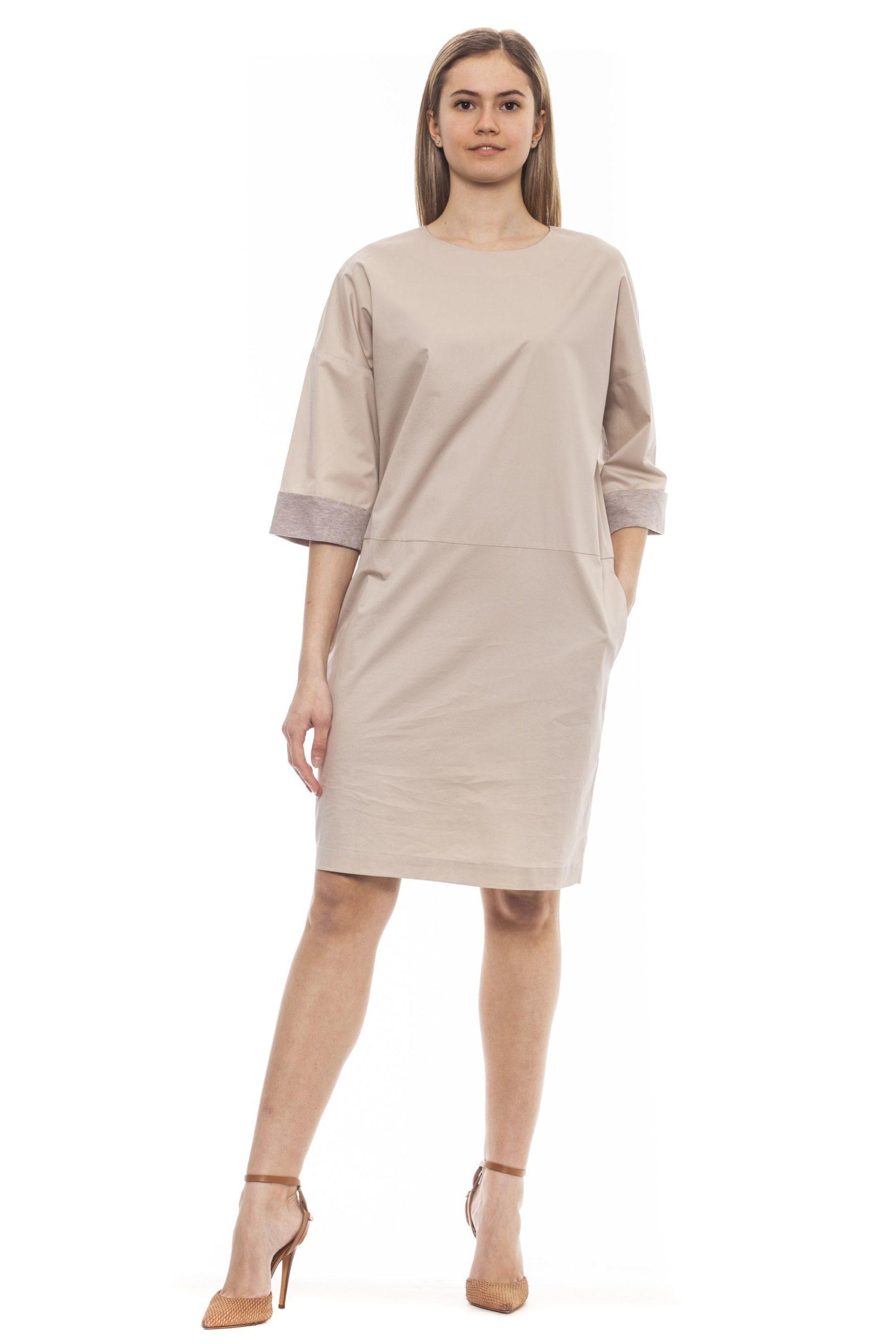 Peserico Women's Dress Beige PE1383267 - IT42   S