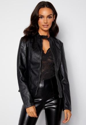 JDY Emily Faux Leather Jacket Black 40