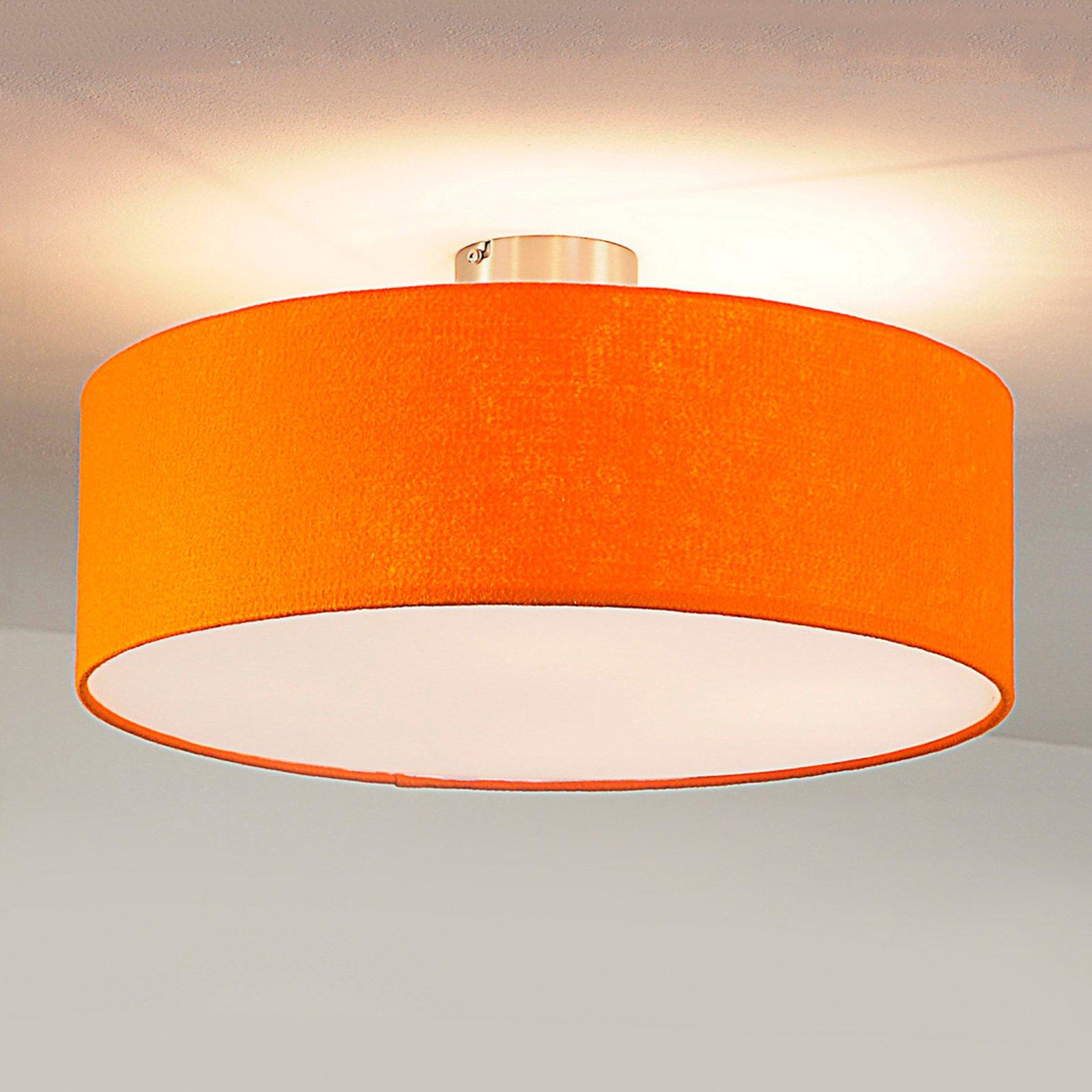 taklampe Gala, 50 cm, filtskjerm oransje