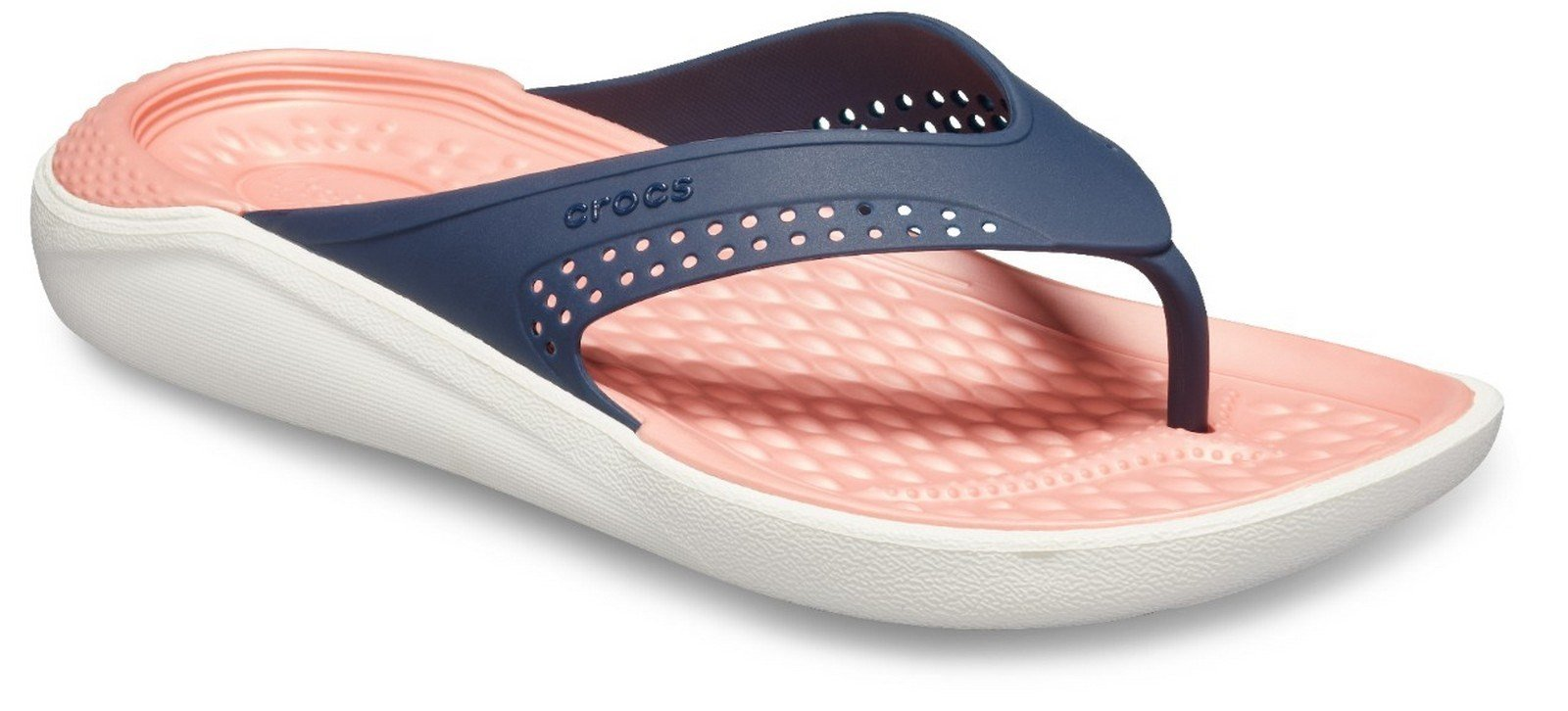 Crocs Unisex LiteRide Flip Flop Various Colours 26904 - Navy/Melon 3