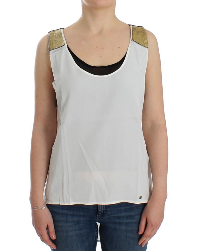 Costume National Women's Sleeveless Top Multicolor SIG12533 - XS
