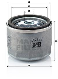 Ilmansuodatin MANN-FILTER C 77/7