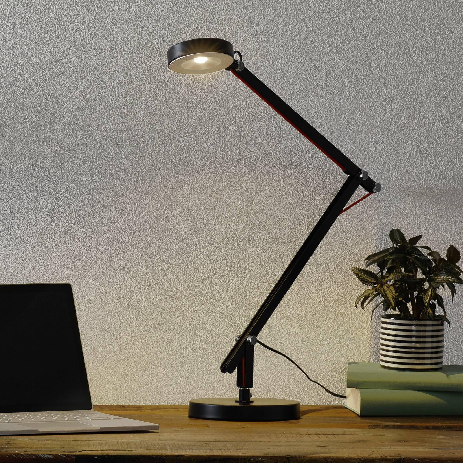 Svart LED-multifunksonslampe Amsterdam