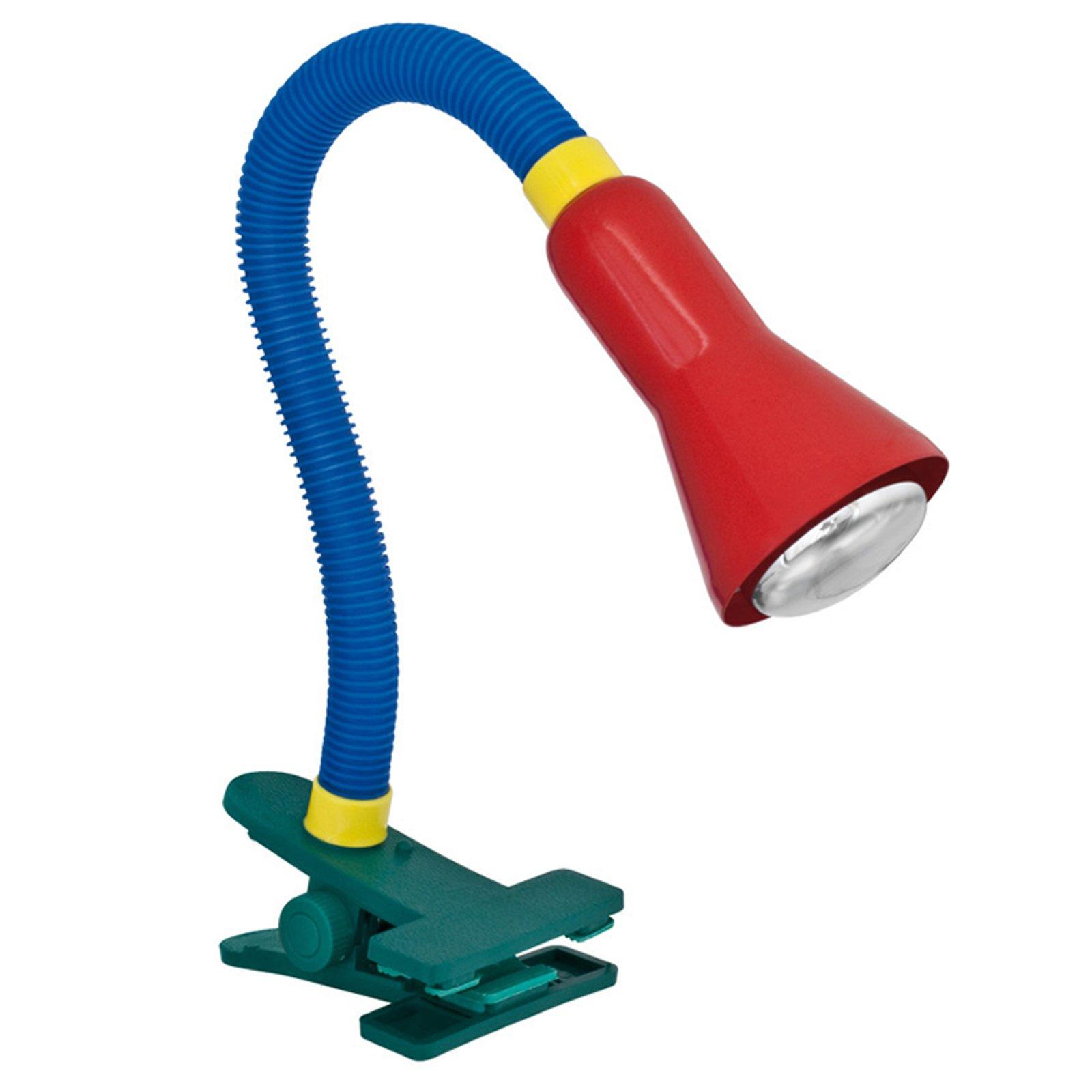 Fargerik bordlampe Couleur med klemmefot