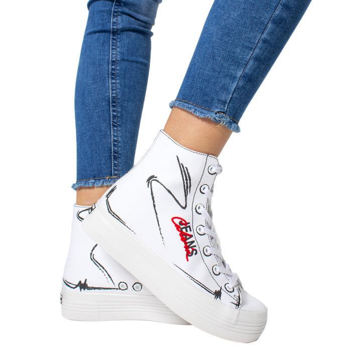 Calvin Klein Jeans Women's Trainer Blue 170951 - white 35
