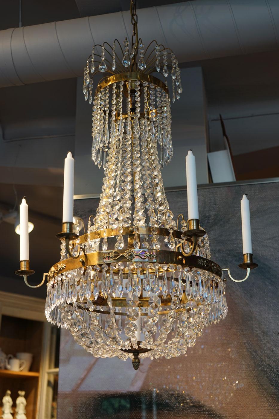 Taklampa krona sengustaviansk stil